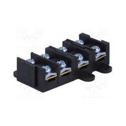Terminal block ways 4 screw...