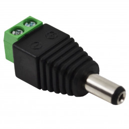 2.1x5.5 mm Dc Jack Male 1 stk.