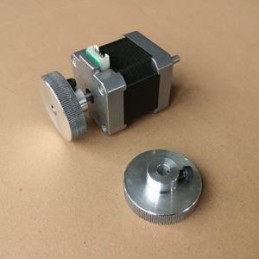 Handwheel for stepper motor...